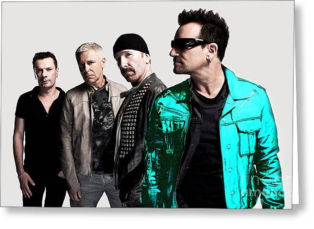 U2 Greeting Cards - U2 Greeting Card by Marvin Blaine