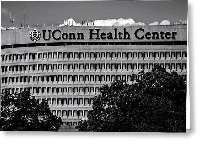 Uconn Greeting Cards - UConn Health Center Greeting Card by Phil Cardamone