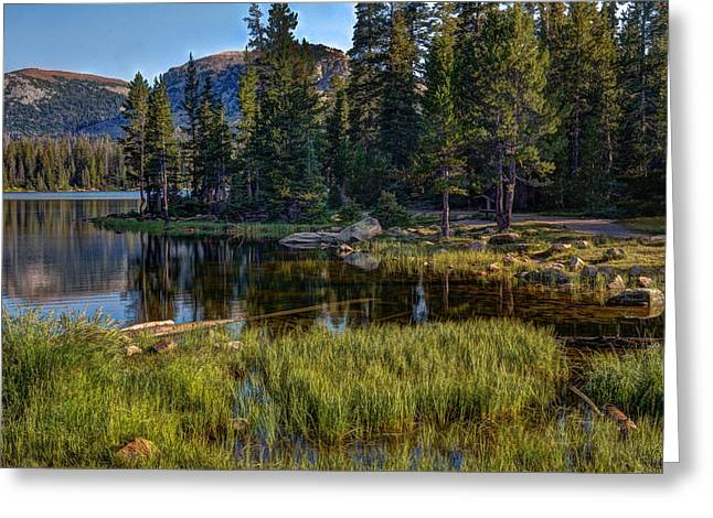 Mountain Reflection Lake Summit Mirror Greeting Cards - Uinta Mountains Utah Greeting Card by Utah Images
