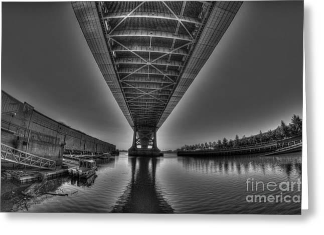Williams Dam Greeting Cards - Under the Bridge Greeting Card by Mark Ayzenberg