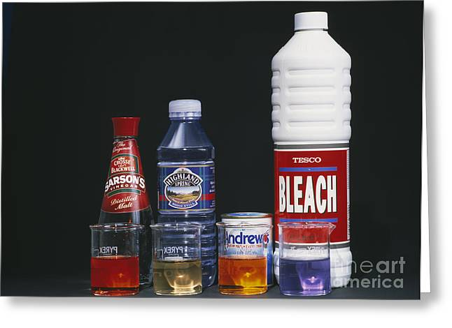 Vinegar Greeting Cards - Universal Indicator Greeting Card by Andrew Lambert Photography