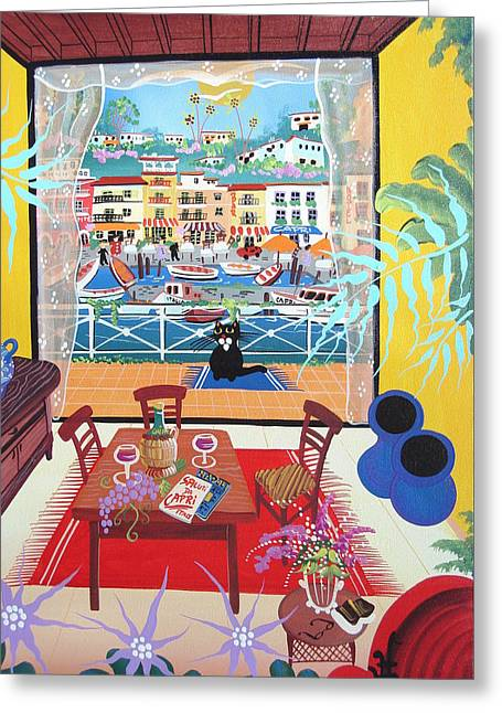 Table Wine Greeting Cards - Untitled Greeting Card by Herbert Hofer