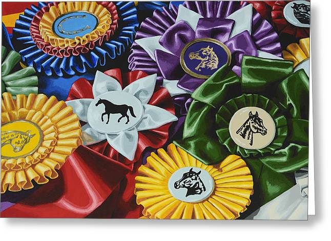 Show Horse Greeting Cards - Untittled Greeting Card by Lesley Alexander