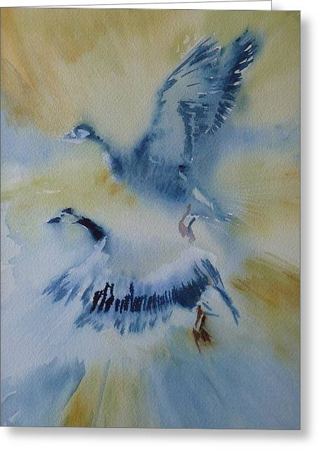 Wildlife Genre Greeting Cards - Up and away Greeting Card by Lori Ippolito
