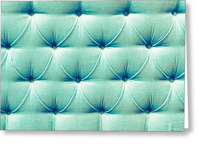 Upholstery Background Greeting Card by Tom Gowanlock