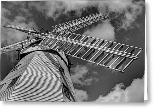 Millstone Greeting Cards - Upminster Windmill Essex England Greeting Card by David Pyatt