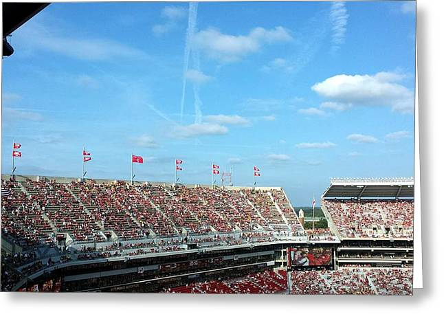 Bryant Denny Stadium Greeting Cards - Upperdeck Panorama Greeting Card by Kenny Glover