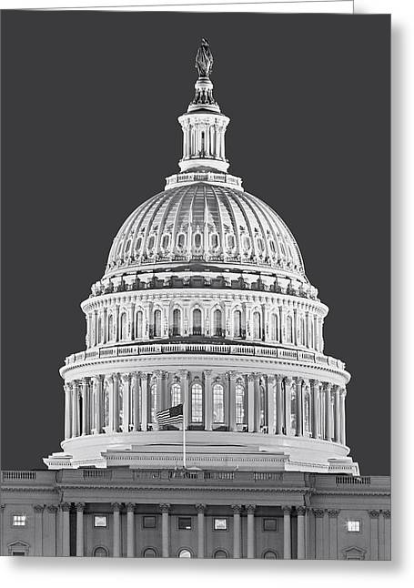Us Capitol Dome Greeting Card by Susan Candelario