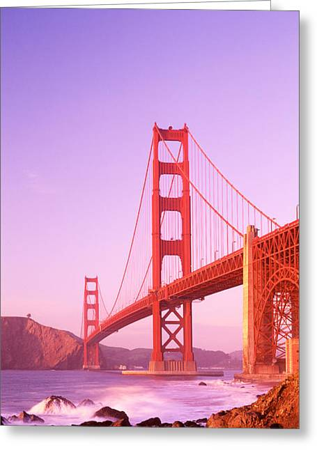 San Francisco Bay Greeting Cards - Usa, California, San Francisco, Golden Greeting Card by Panoramic Images