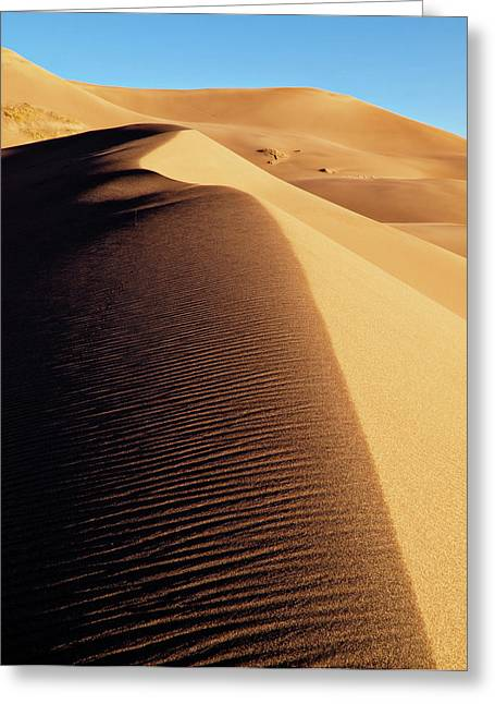 Usa, Colorado, Great Sand Dunes Greeting Card by Ann Collins