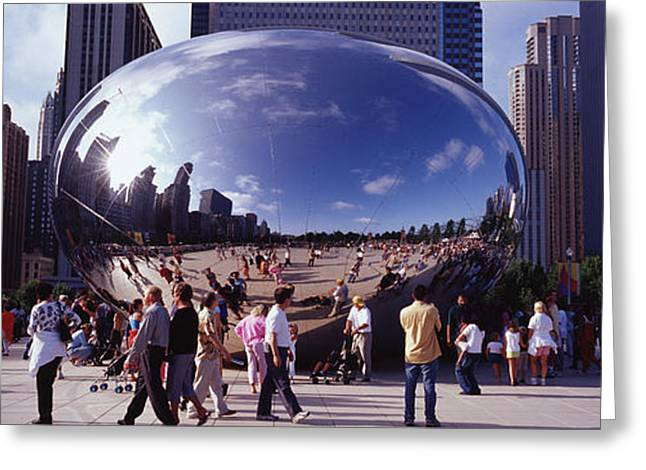 Featured Art Greeting Cards - Usa, Illinois, Chicago, Millennium Greeting Card by Panoramic Images
