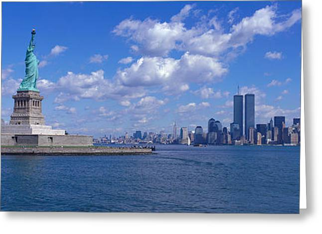 Liberation Greeting Cards - Usa, New York, Statue Of Liberty Greeting Card by Panoramic Images
