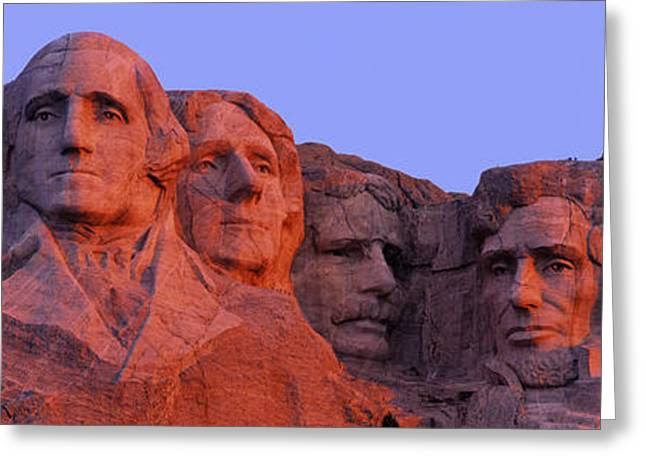 Presidential Photographs Greeting Cards - Usa, South Dakota, Mount Rushmore Greeting Card by Panoramic Images