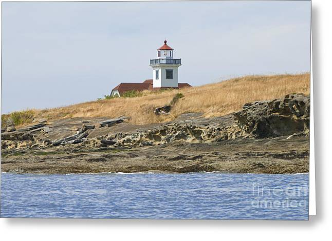 Uscg Greeting Cards - Uscg Light Station Patos Island Greeting Card by Richard and Ellen Thane