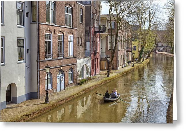 City Canal Greeting Cards - Utrecht Greeting Card by Joana Kruse