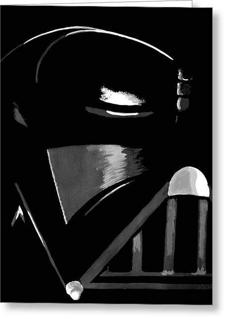 White Paintings Greeting Cards - Vader Greeting Card by Dale Loos Jr
