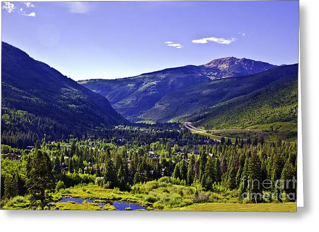 Madeline Ellis Greeting Cards - Vail Valley View Greeting Card by Madeline Ellis