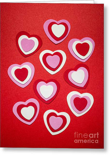 Various Greeting Cards - Valentines day hearts Greeting Card by Elena Elisseeva
