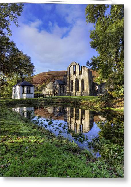 Valle Crucis Greeting Cards - Valle Crucis Abbey Greeting Card by Ian Mitchell