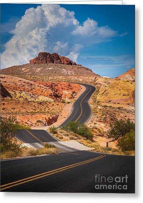 Valley Of Fire Greeting Card by Inge Johnsson