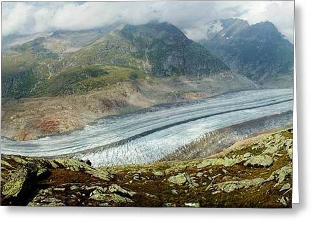 Valais Canton Greeting Cards - Valley of Ice Greeting Card by David Broome