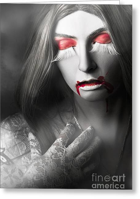 Vampire Greeting Card by Jorgo Photography - Wall Art Gallery