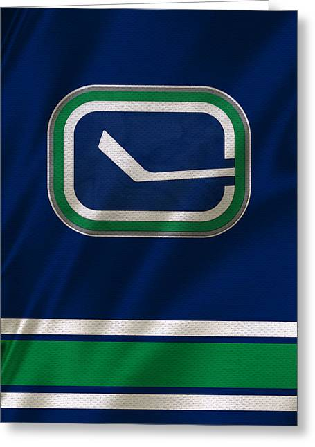 Skates Greeting Cards - Vancouver Canucks Uniform Greeting Card by Joe Hamilton