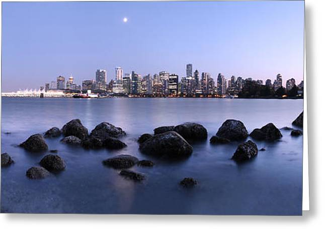 Vancouver From Stanley Park Greeting Card by Dan Breckwoldt