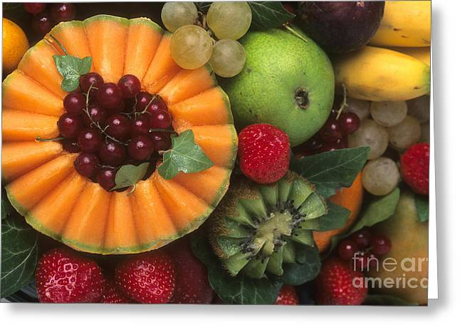 Berry Greeting Cards - Variety of fruits. Greeting Card by Bernard Jaubert