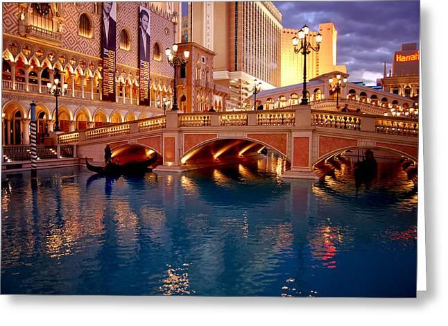 Roulettes Greeting Cards - Venetian Hotel - Las Vegas Greeting Card by Jon Berghoff