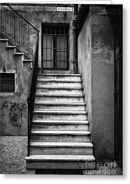 Stone Steps Greeting Cards - Venetian Stairs Greeting Card by John Rizzuto