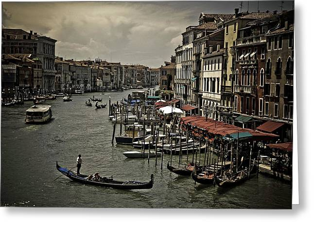 Venice Tour Greeting Cards - Venice at Dusk Greeting Card by Mountain Dreams