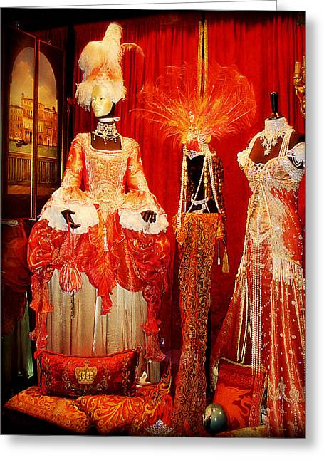 Ball Gown Greeting Cards - Venice Back in Time Greeting Card by Julie Palencia