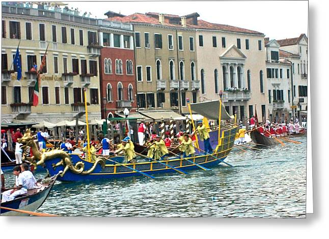 Venice Pyrography Greeting Cards - Venice Greeting Card by Began Roselda
