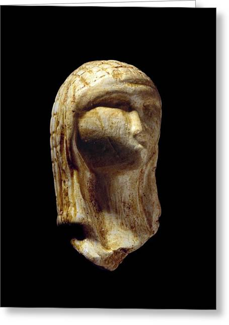 Woman Head Sculpture Greeting Cards - Venus of Brassempouy, Stone Age Greeting Card by Science Photo Library