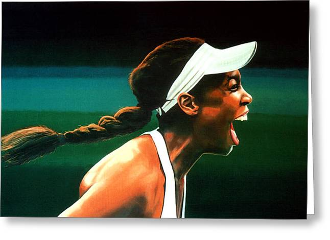 Davis Cup Greeting Cards - Venus Williams Greeting Card by Paul  Meijering