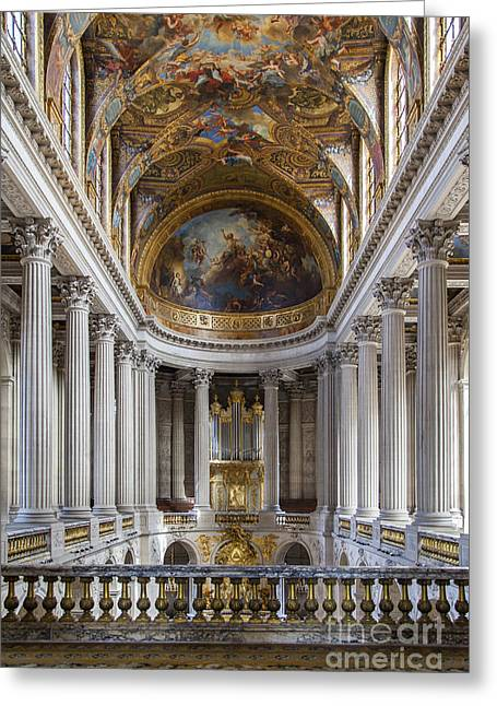 Xvi Greeting Cards - Versailles Chapel Greeting Card by Brian Jannsen