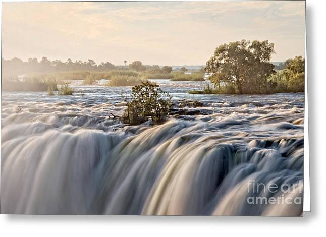 Zambezi River Greeting Cards - Victoria falls Greeting Card by Delphimages Photo Creations