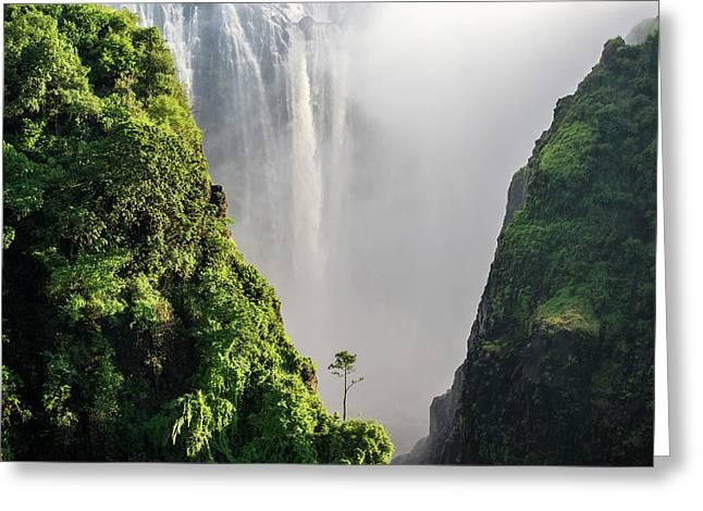 Victoria Falls  Livingstone, Zambia Greeting Card by Remsberg Inc