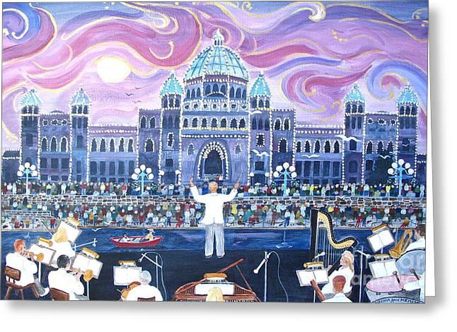 Victoria Symphony Splash Greeting Card by Virginia Ann Hemingson