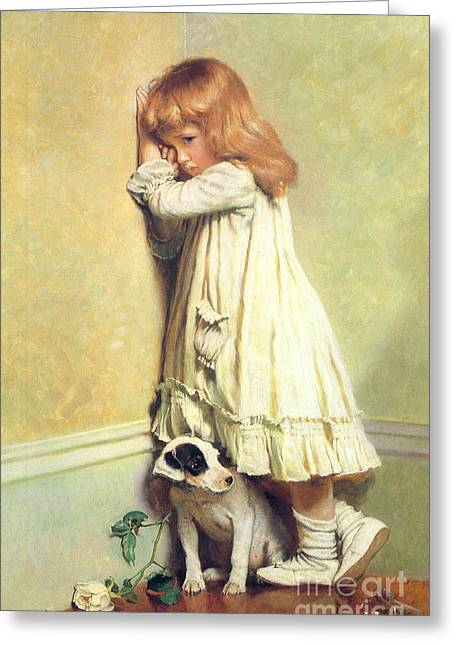 Disobedient Greeting Cards - Victorian art piece Greeting Card by Indian Summer