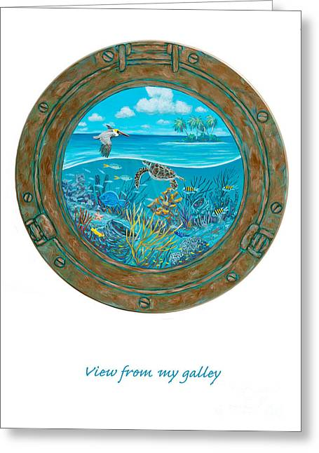 Fish Print Greeting Cards - View From My Galley Greeting Card by Danielle  Perry