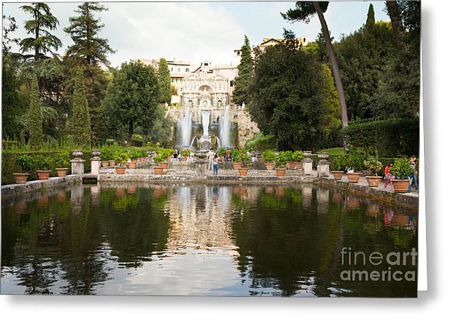 Villa Deste Greeting Cards - Villa dEste Gardens Greeting Card by Peter Noyce