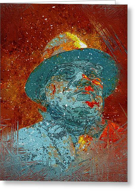 Vince Greeting Cards - Vince Lombardi Greeting Card by Jack Zulli