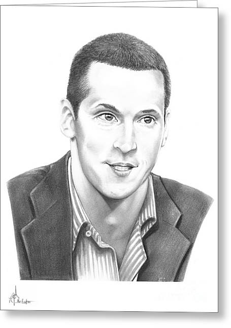 Pencil Drawing Greeting Cards - Vincent Lecavalier Greeting Card by Murphy Elliott