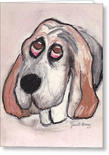 Janel Bragg Pastels Greeting Cards - Vincent the Dog Greeting Card by Janel Bragg