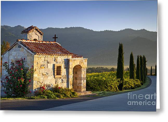 Vineyard Prayer Chapel Greeting Card by Brian Jannsen