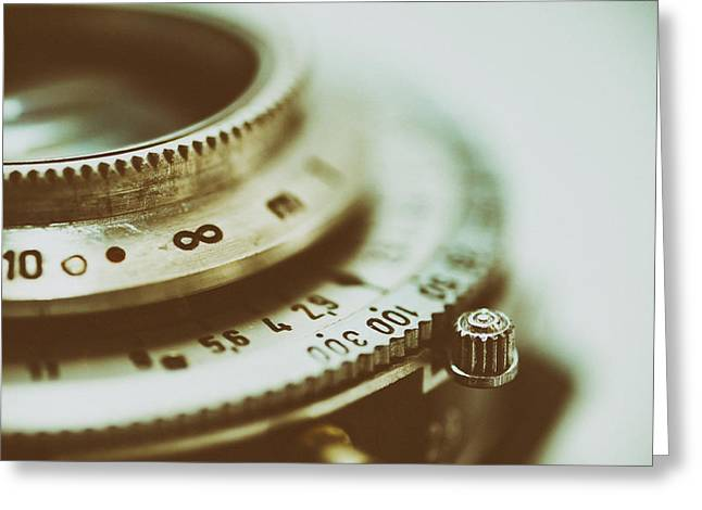 Aperture Greeting Cards - Vintage Camera Lens Greeting Card by Mountain Dreams