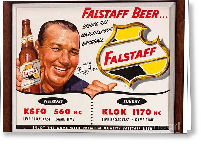 Falstaff Greeting Cards - Vintage Falstaff Beer Poster Greeting Card by Action