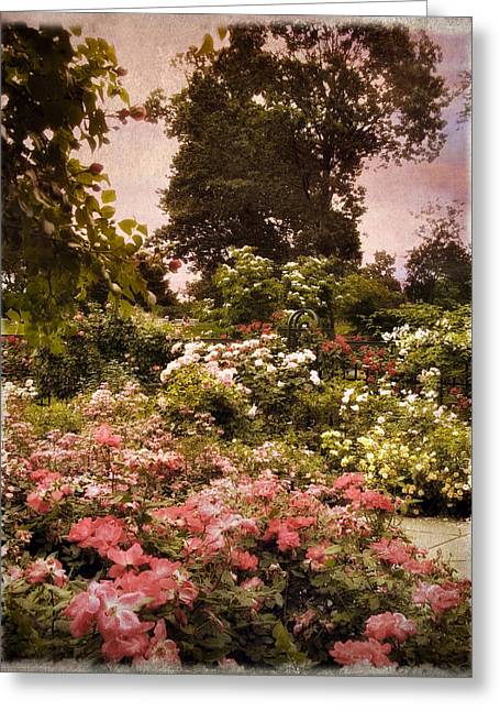 Muted Greeting Cards - Vintage Garden Greeting Card by Jessica Jenney